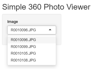 Drop down box showing images